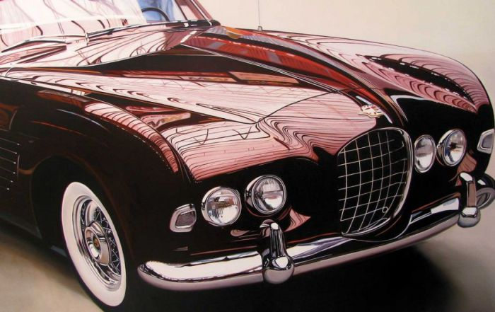 Photorealistic antique classic cars by Cheryl Kelley