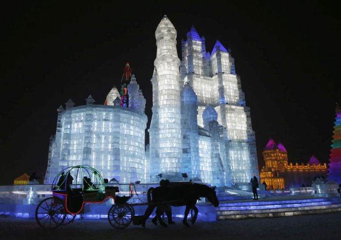 Harbin International Ice and Snow Sculpture Festival 2015, Heilongjiang province, China