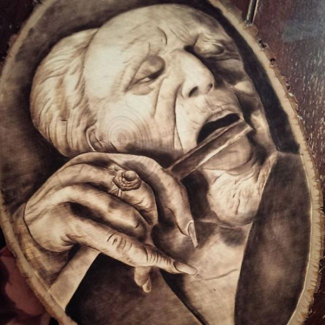 Pyrography wood burning by Rick Merian