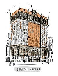 TopRq.com search results: Buildings in New York City, illustration by James Gulliver Hancock