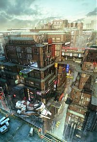 TopRq.com search results: Sci-fi urban environment concepts by Stefan Morrell