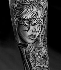 TopRq.com search results: Black and Gray tattoos by Jun Cha