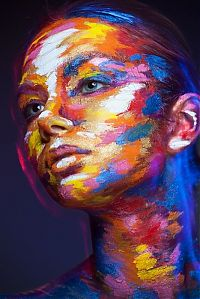 TopRq.com search results: Weird Beauty series, Art of Face paintings by Alexander Khokhlov
