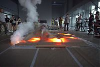 Explosion Events, gunpowder drawings fire art by Cai Guo-Qiang