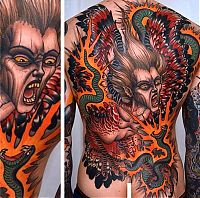 Creative tattoo art by Peter Lagergren