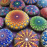 TopRq.com search results: Mandala on ocean stones by Elspeth McLean