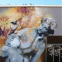 Street art graffiti by Pichi & Avo