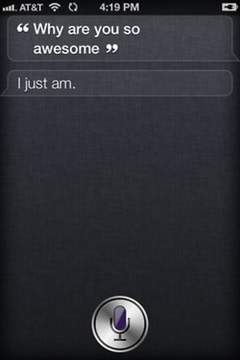 Siri, iOS intelligent personal assistant answers, iPhone 4S