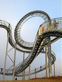 TopRq.com search results: Tiger & Turtle Magic Mountain. walkable roller coaster, Duisburg, Germany