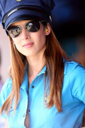 Rizla Suzuki Grid Girl, 2007 MotoGP World Championship, Round 7, Catalunya, Spain, 10 June 2007