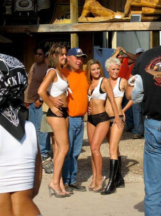 Sturgis Motorcycle Rally girls, South Dakota, United States