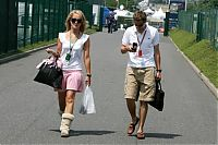 TopRq.com search results: Christijan Albers Midland Mf1 Racing With His Girlfriend Leselore Kooijman Magny Cours 2006-07-13
