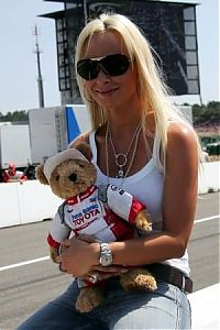 TopRq.com search results: Cora Schumacher Wife Of Ralf Schumacher With Toyota Mascot Hockenheim 2006-07-30