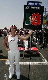 TopRq.com search results: Grid Girl For Tiago Monteiro Mindalnd Mf1 Racing Magny Cours 2006-07-16