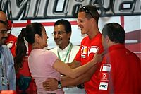 TopRq.com search results: Michell Yeoh Girlfriend Of Jean Todt With Michael Schumacher Monza 2006-09-09