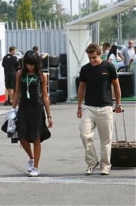 TopRq.com search results: Renault F1 Team And Raquel Rosario Girlfriend Of Fernando Alonso Monza 2006-09-07