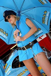 TopRq.com search results: Rizla Suzuki Grid Girl, Grand Prix World Championship, Round 7, Catalunya, Spain, 10 June 2007
