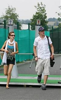 TopRq.com search results: Scott Speed Scuderia Toro Rosso With His Girlfriend Magny Cours 2006-07-13