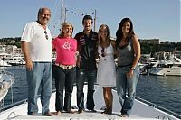 TopRq.com search results: Tiago Monteiro With His Girlfriend And Sister Father And Mother - Monaco 2006-05-27