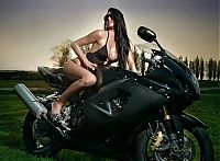 Motorsport models: motorbike girl