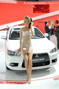 Motorsport models: girls of moscow international automobile show