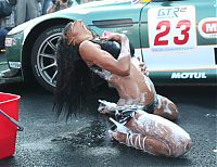 Motorsport models: car wash girls