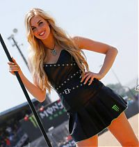 Motorsport models: monster energy grid girls