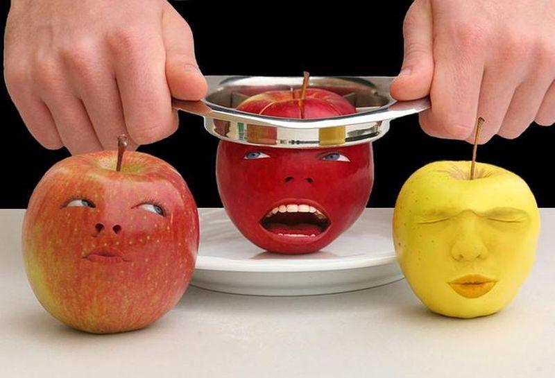 Картинки, яблоки смешная картинка