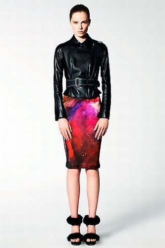 Outer space motif dress by Christopher Kane