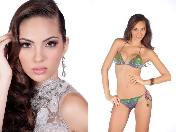 Contestants of beauty pageant, Miss Universe 2011, São Paulo, Brazil