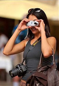 People & Humanity: girl with a camera