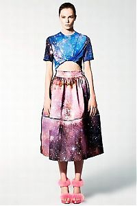 People & Humanity: Outer space motif dress by Christopher Kane