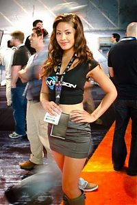 People & Humanity: Electronic Entertainment Expo (E3) 2011 trade show girls