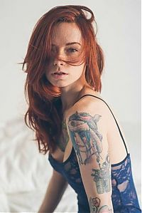 People & Humanity: young red haired girl portrait