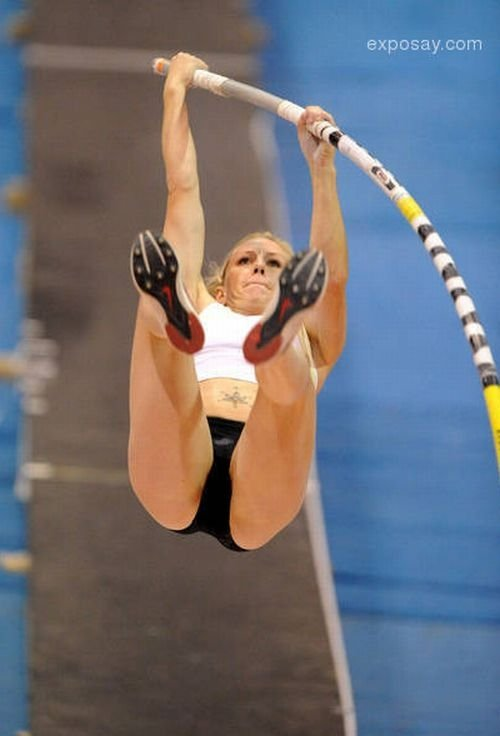 Female pole vaulters showing pussy 6