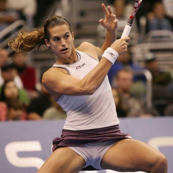 Women Tennis Players Upskirt