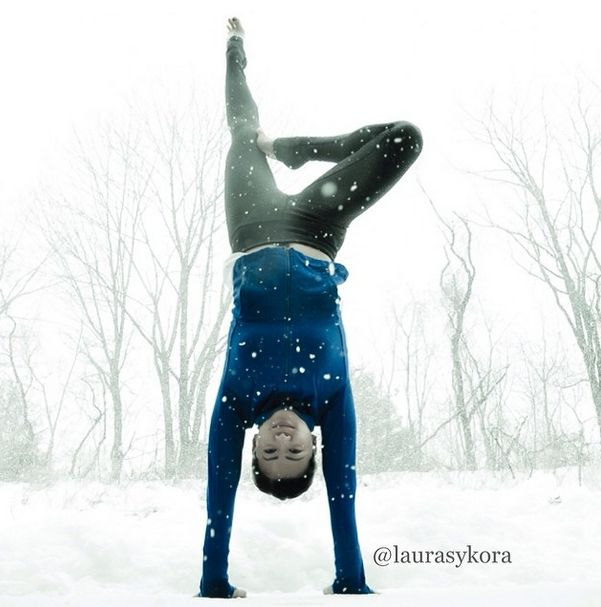 Laura Sykora Kasperzak, girl practicing yoga poses