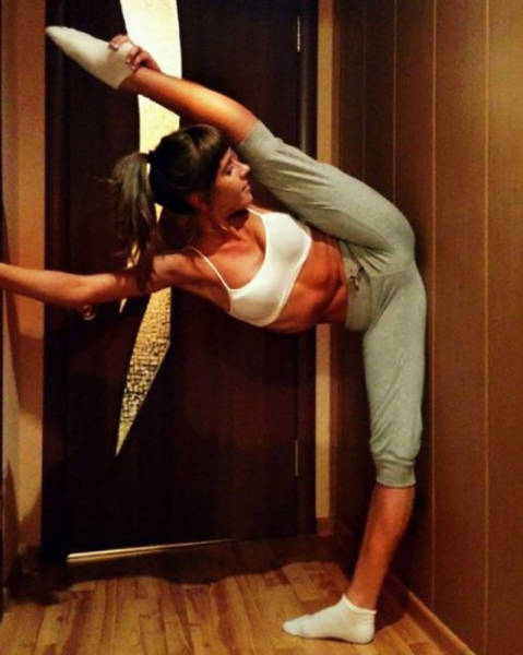 flexible gymnastic girl