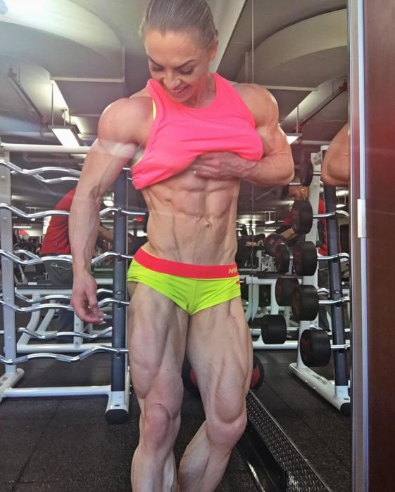 Eleonora Dobrinina, strong fitness bodybuilding girl