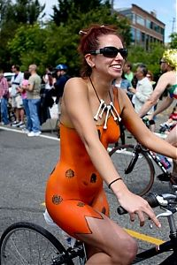 Sport and Fitness: bicycle girl