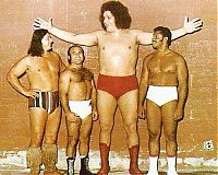 Sport and Fitness: Andre Giant (Andre Rene Russimov), born in Grenoble, France 19 May 1946.
