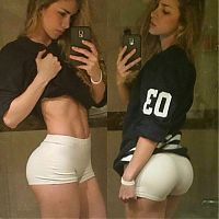 Sport and Fitness: Anllela Sagra, strong fitness bodybuilding girl