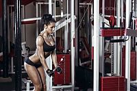 Sport and Fitness: strong fitness bodybuilding girl