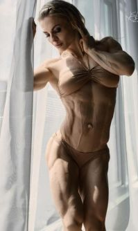 Sport and Fitness: Eleonora Dobrinina, strong fitness bodybuilding girl