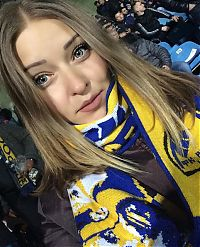 Sport and Fitness: cute football fan girls