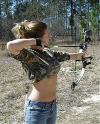 Sport and Fitness: archery girl