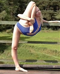 Sport and Fitness: flexible gymnastic girl