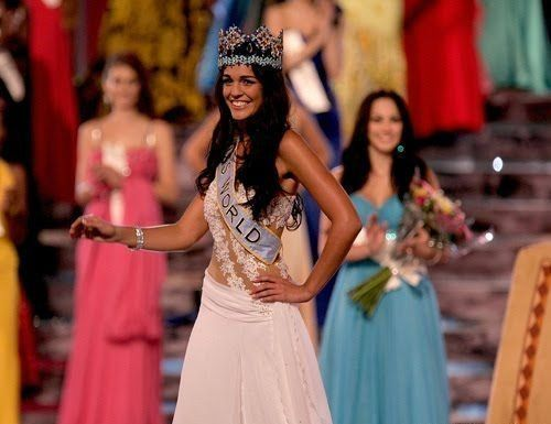 Kaiane Aldorino, from Gibraltar, 23 year old winner of the contest Miss World 2009