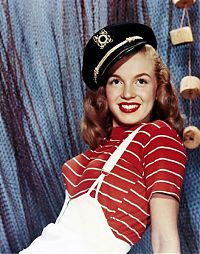 Celebrities: Norma Jeane Mortenson, before she became Marilyn Monroe