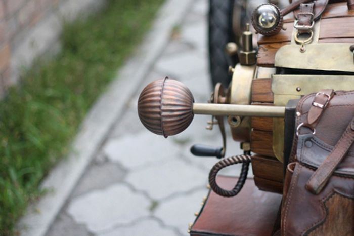 motorized steampunk tricycle